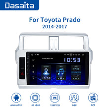 "Load image into Gallery viewer, Dasaita 1 Din Android 10.0 Car Radio Navigation for Toyota Prado 2014 2015 10.2"" IPS HD Video OUT MP3 Bluetooth 1280*720 RAM 4GB Carplay"