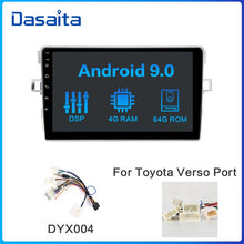 "Load image into Gallery viewer, Dasaita Car Stereo Radio-Player 1 Din Android 10.0 for Toyota Verso EZ Navigation 2012 2013 2014 2015 2016 8"" Multi Touch Screen"