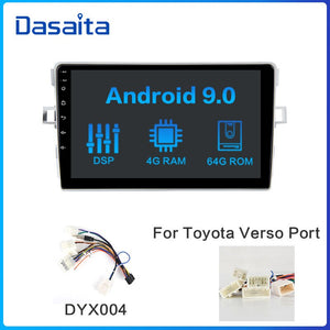 "Dasaita Car Stereo Radio-Player 1 Din Android 10.0 for Toyota Verso EZ Navigation 2012 2013 2014 2015 2016 8"" Multi Touch Screen"