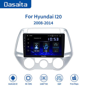 "Dasaita 9"" Android 10.0 Car Bluetooth GPS Radio Player for Hyundai I20 2008 2009 2010 2014 with 4GB 64GB Auto Stereo Multimedia"