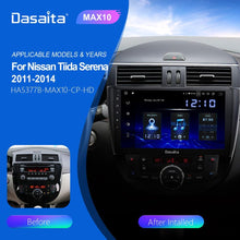 "Load image into Gallery viewer, Dasaita 9"" HD Touch Screen Car 1 Din Radio Android 10.0 for Nissan Tiida 2011 2012 2013 2014 GPS Navigation TDA7850"