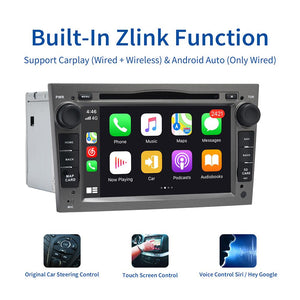 "Dasaita 7"" IPS Screen Android 10.0 Car 2 din for Opel Astra H Zafira Vivaro Vectra Tigra Corsa C Radio 2004 TDA7850 Carplay"