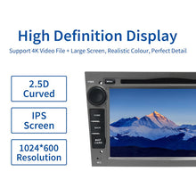 "Load image into Gallery viewer, Dasaita 7"" IPS Screen Android 10.0 Car 2 din for Opel Astra H Zafira Vivaro Vectra Tigra Corsa C Radio 2004 TDA7850 Carplay"