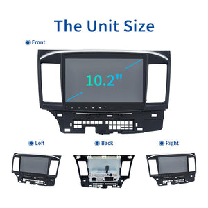 "Dasaita 10.2"" IPS Touch Screen Android 10 Car Stereo  for Mitsubishi Lancer 10 EVO Radio 1 Din GPS DSP 4G RAM Carplay MP3 Wifi"