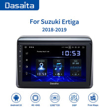 "Load image into Gallery viewer, Dasaita 9"" IPS Radio Player 1Din Car Stereo Autoradio Android10.0 for Suzuki Ertiga GPS 2018 Navigation Bluetooth TDA7850 MAX10"