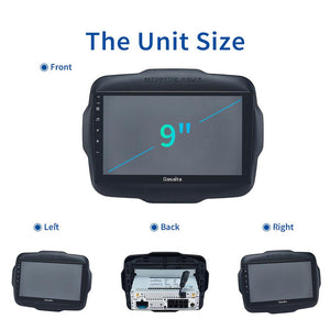 "Dasaita Android 10 Car Radio GPS for Jeep Renegade Carplay 2016 2017 2018 Multimedia Player with 9"" 2.5D IPS Screen"