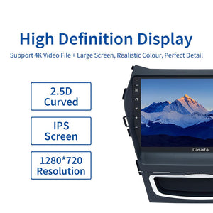 "Dasaita 9"" IPS Car Radio 1 Din Android 10.0 Multi-Touch Screen for Hyundai GPS IX45 2013 2014 2015 Stereo Multimedia Navigator"