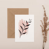 Abstract Leaf Card