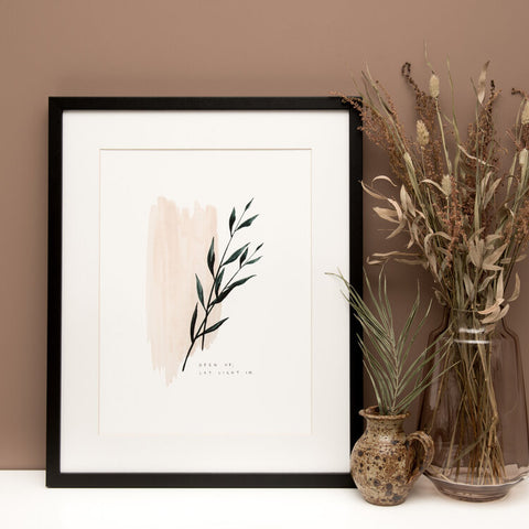 Open Up Let Light In Botanical A5 Print