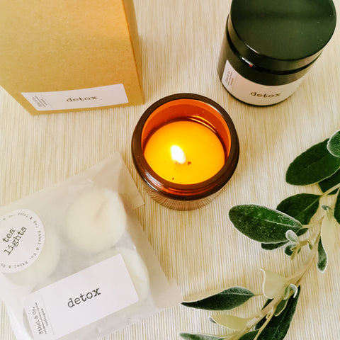 Detox Candle in Amber Glass Jar