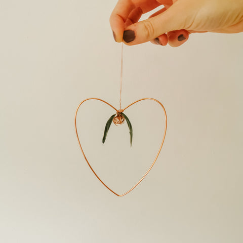 'With Love' Copper Heart Decoration