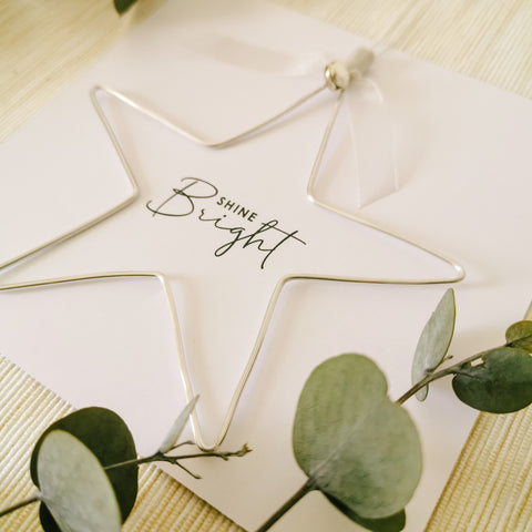 Shine Bright Silver Star Decoration