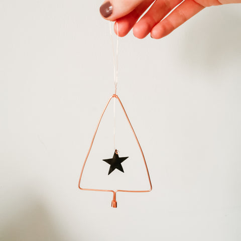 Christmas Tree Festive Copper Decoration
