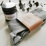 Men's Organic Socks & Downtime Candle Set