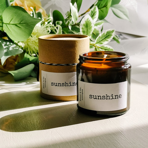 Sunshine Amber Jar Candle