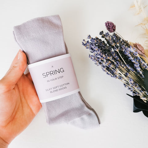 Spring In Your Step Lilac Socks