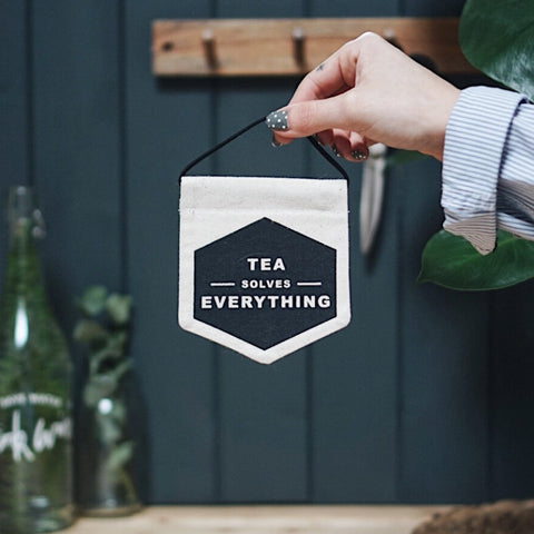 Tea Solves Everything Mini Banner
