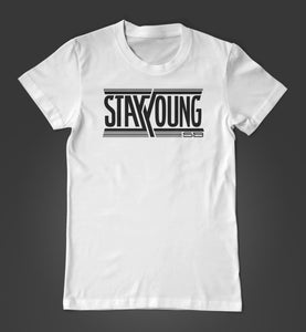 Stay Young SB Team Logo - White