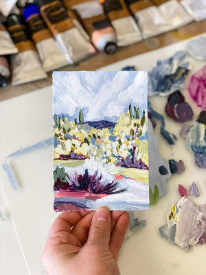 Tiny Brush Desert 2 Acrylic Painting