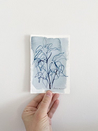 Blue Botanical Blind Contour 2