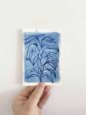 Blue Botanical Blind Contour 5