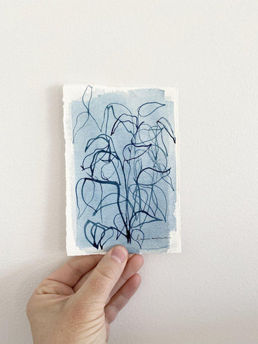 Blue Botanical Blind Contour 6