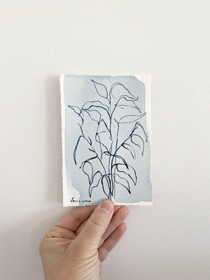 Blue Botanical Blind Contour 9