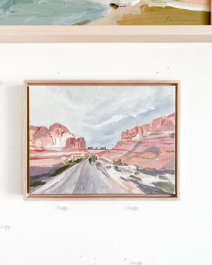 Canyon Road Framed Original Painting 9x12