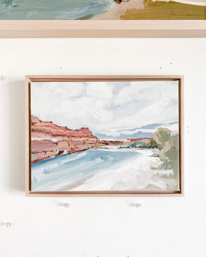 River Canyon Framed Original Painting 9x12