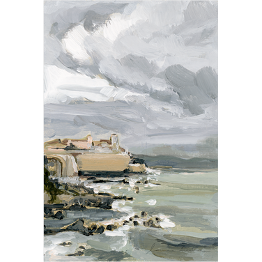 """Antibes Coast"" Vertical Canvas Print"