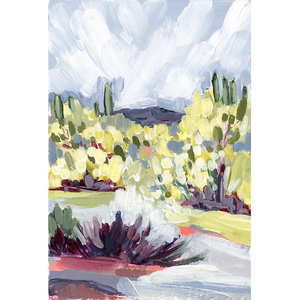 """Brush Desert II"" Vertical Canvas Print"