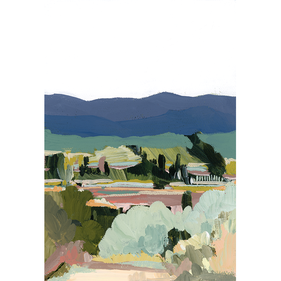 """Catalonia Hills"" Vertical Canvas Print"