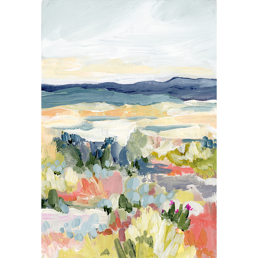 """Desert Dawn"" Vertical Canvas Print"