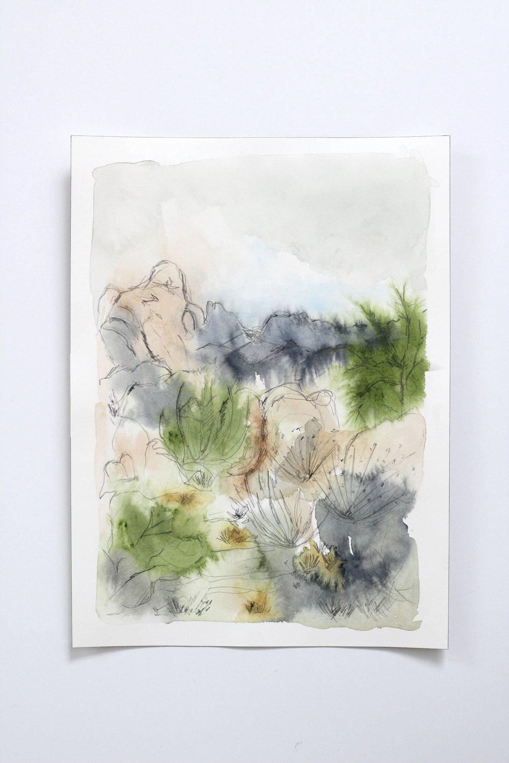 Desert Landscape with Graphite