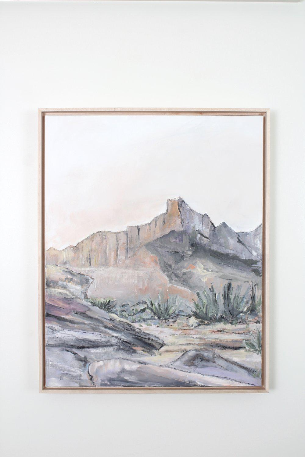 """Desert Sanctuary"" Framed Acrylic Painting 24x30"