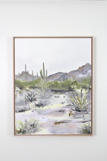 """Purple Desert"" Framed Acrylic Painting 24x30"