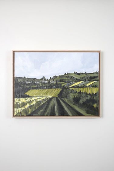 """Tuscan Hills No. 2"" Framed Acrylic Painting 18x24"