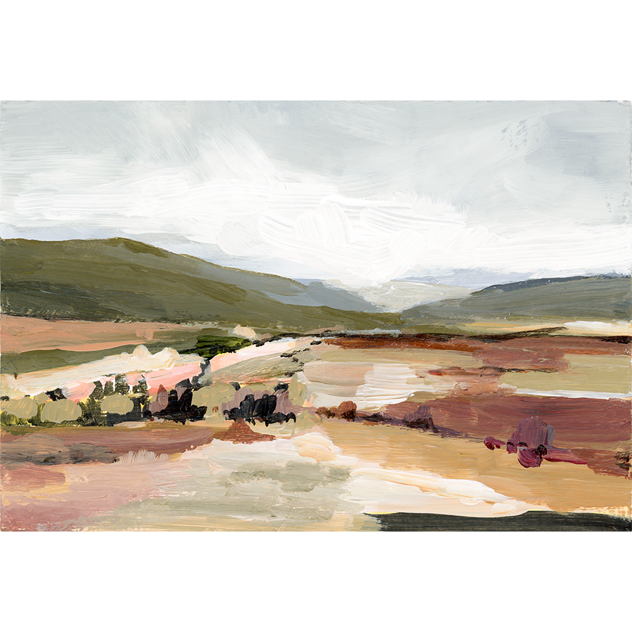 """Olive Hills"" Horizontal Canvas Print"