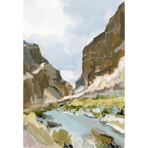 """Day River"" Vertical Canvas Print"