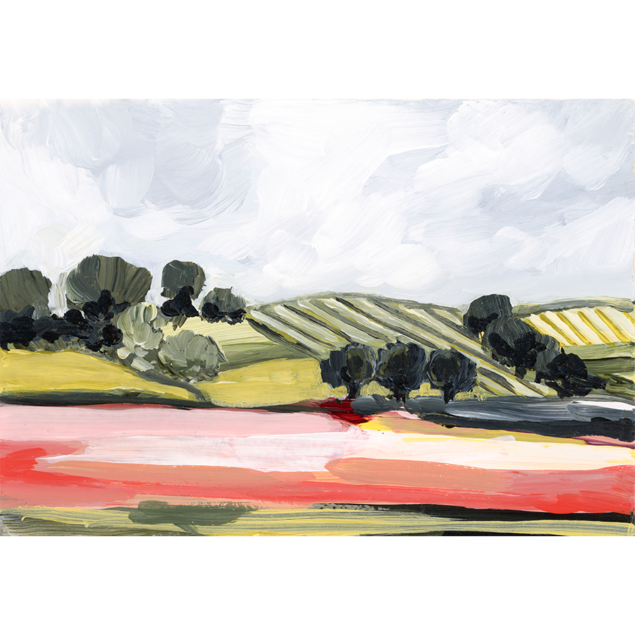 """Red Fields"" Horizontal Canvas Print"