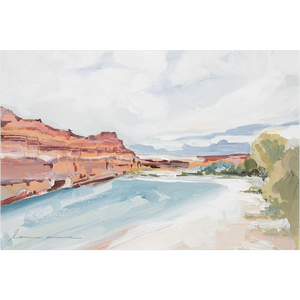 """River Canyon"" Horizontal Canvas Print"