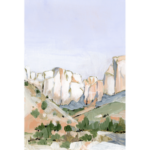 """Zion"" Vertical Canvas Print"