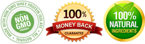 Non-GMO, 100% Money Back Guarantee, 100% Natural