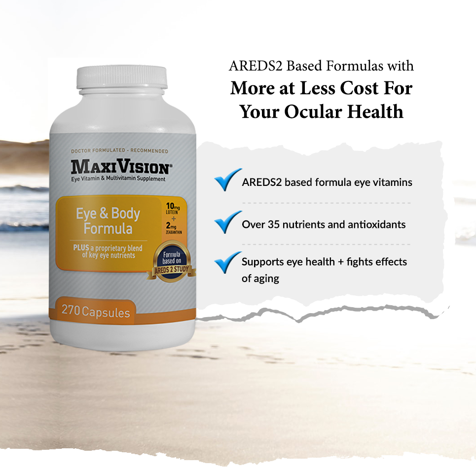 AREDS2 based formulas with more at less cost for your ocular health.  *AREDS2 Based Formula eye vitamins.  *Over 35 nutrients and antioxidants * Supports eye health + fights effects of aging