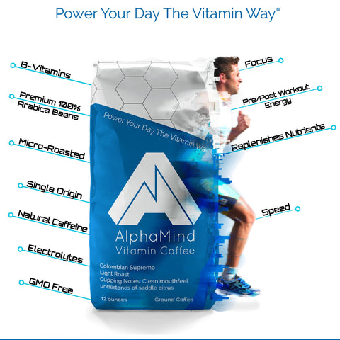 AlphaMind Vitamin Coffee benefits