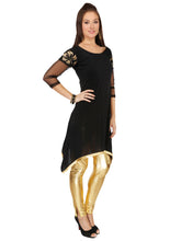 Load image into Gallery viewer, ASYMETRICAL HEM SHORT KURTI WITH NET SLEEVES