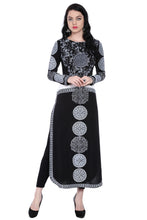 Load image into Gallery viewer, Long Slv, Calf Length Engineered Print Straight Kurti