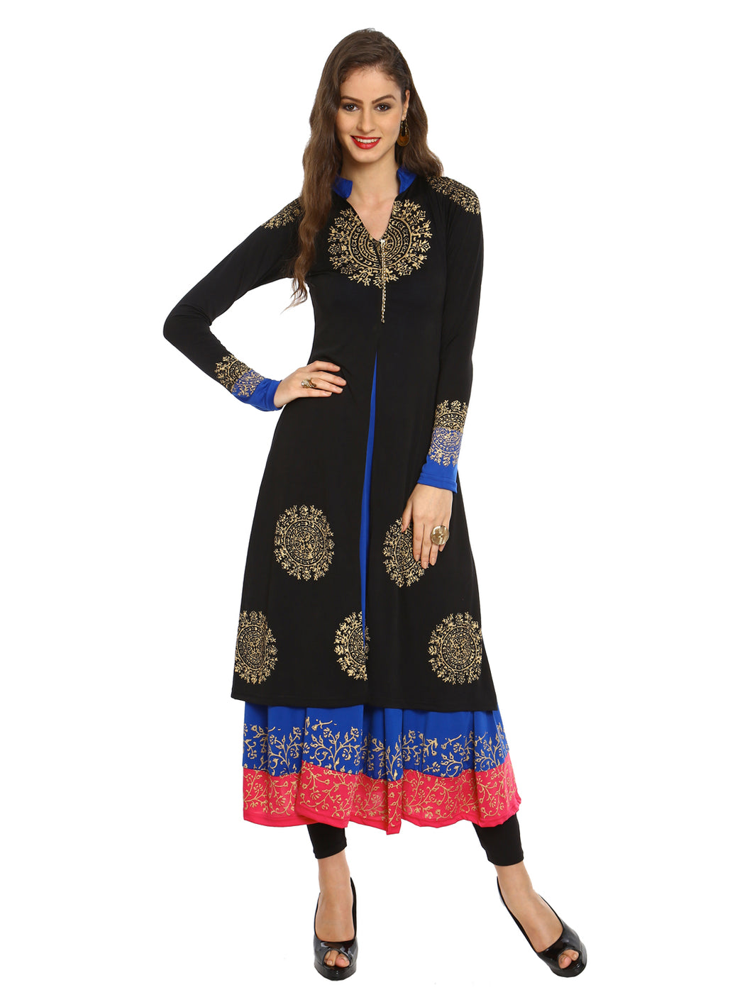 Souq Central 2 Piece Outer And Inner Set With Gold Print