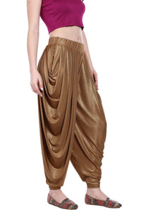 SHIMMER KNITTED PLEATED PATIALA - GOLD