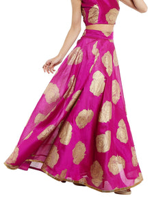 Souq Central Rose Printed Reversible Skirt